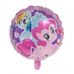 ProCart® My Little Pony léggömb, kerek, 45 cm átmérőjű, fóliából készült, levegő vagy hélium töltés