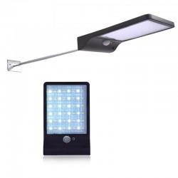 LVT Napelemes szlim lámpa, 5W, 36 SMD LED, mozgásérzékelő, 3 üzemmód, 2000mAh, 300lm, hidegfehér