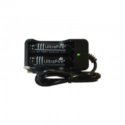 ProCart® elemtöltő,  2 Li-ion 18650 elemmel együtt, LED-es kijelző, automatikus kikapcsolás
