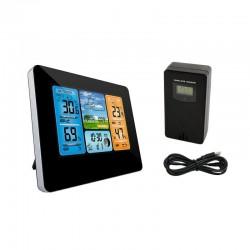 ProCart® Vezeték nélküli digitális meteorológiai állomás, külső érzékelő, LCD képernyő, higrométer, ébresztőóra, naptár
