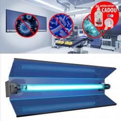 ProCart® Állítható baktériumölő lámpa, 15W UVC cső, reflektor, falra szerelhető, IP20