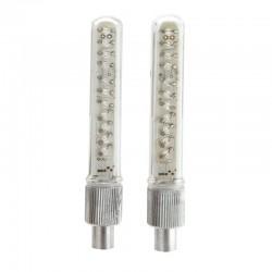 ProCart® RGB LED kerékpárszelep, 13 megvilágítási mód, AG10 elem működés, 2 darabos készlet