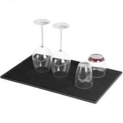 ProCart® Konyhai edény szárító, csúszásmentes felület, 45x30cm, fekete