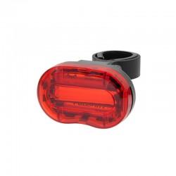 ProCart® LED Hátsó lámpa, 0,5 W, piros, kerékpárhoz, 3 megvilágítási mód, AAA elemellátás