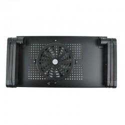 MT MALATEC Összecsukható laptop asztal, hűtőventilátor, 180 fokos szög, reteszelő rendszer