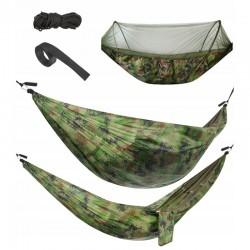 MT MALATEC Army függőágy 260x140 cm, szúnyogháló, maximális terhelés 150 kg, cipzáras zár, tároló zsák