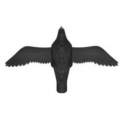 MT MALATEC madárijesztő, holló alakú, akasztóhorog, 61x38,5 cm, fekete