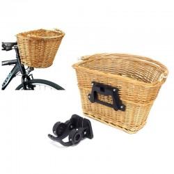 MT MALATEC Kerékpár fonott kosár, klip rendszer, kormányra szerelhető, természetes barna