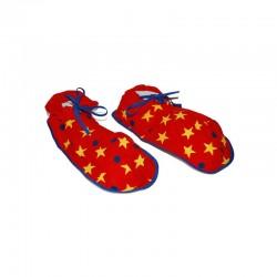 ProCart® Bohóc papucs, túlméretes, csillag és pöttyös mintázatú, puha anyag