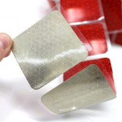 3M szegmentált fényvisszaverő szalag, szélessége 5 cm, rugalmas felületekhez, piros