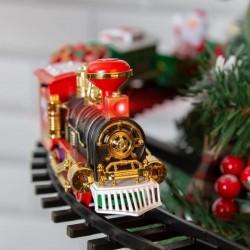ProCart® Fenyőre szerelhető elektromos vonat, világítás, sínátmérő 89 cm, többszínű