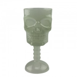 ProCart® Koponya típusú világító pohár, foszforeszkáló hatás zölden világít, Halloween party-ra
