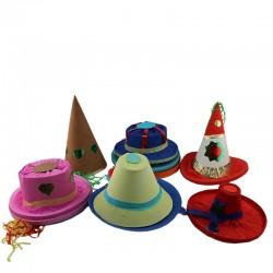 ProCart® Farsangi kalap, party sisak, különböző formájú és méretű, 12 db party tartozék készlet