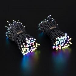 Twinkly Intelligens Világító rendszer, 250 RGB LED, Bluetooth, Wi-Fi, okostelefon vezérlés, hossza 20 m, IP44