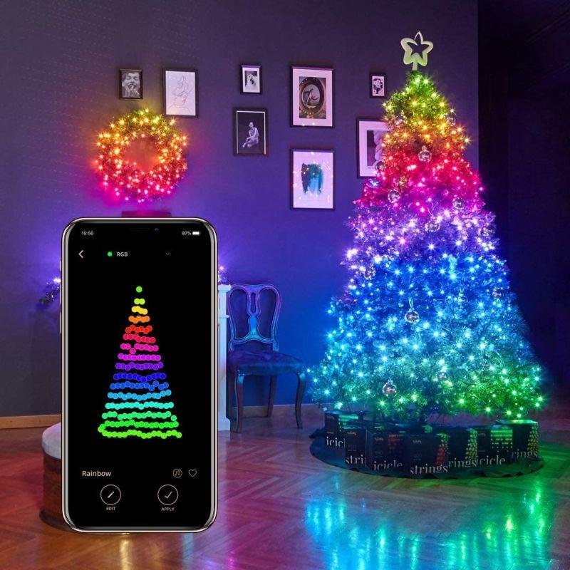 Twinkly Intelligens Világító rendszer, 100 RGB LED, okostelefon-vezérlés Wi-Fi / Bluetooth kapcsolaton keresztül, 8 m, IP44