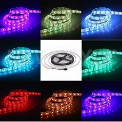 LVT Dekoratív autó LED szalag, RGB + NW 5050, 72W, 12V, hossza 5m, öntapadó, belső, IP20