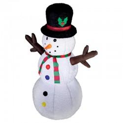 Home Felfújható hóember ,122 cm, LED világítás, tápegység, beltéri és kültéri használatra