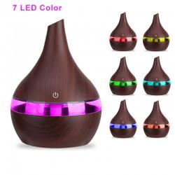 MT MALATEC Aromaterápiás diffúzor, párásítás, 2 W, 300 ml, 7 színű LED világítás, illatos olajok, USB újratölthető