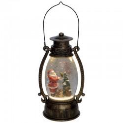 Home LED Lámpás folyadékkal és csillámokkal, Mikulás figura, 11x13,5x26 cm
