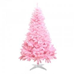 ProCart® Karácsonyi műfenyő, rózsaszín, magassága 200 cm, fehér tartó, hajlékony ágak