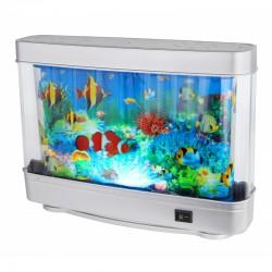 Globo Dekoratív lámpa, akvárium halakkal 30x23x7,2 cm, 2W, mozgó ikonok, IP20