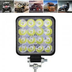 LVT offroad autó LED-es projektor, 48W, 16 halogén LED, 10-30V, alumínium ház, IP67