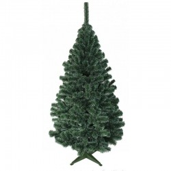 ProCart® Karácsonyi műfenyő, kasmírfenyő 220 cm, fehér hegyek, vékony tűk, természetes zöld