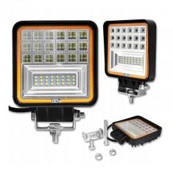 LVT Off Road SMD LED Reflektor, 126W, 10-60V DC, 8820lm, Flood Beam 30 és 60 fokos, IP67, alumínium ház