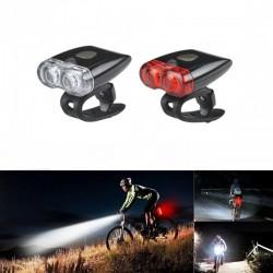 ProCart® LED kerékpár fényszóró és hátsó lámpa készlet, újratölthető USB, 3 megvilágítási mód