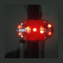 ProCart® LED kerékpár hátsó lámpa,  9 LED, 3 megvilágítási mód, AAA elem