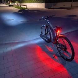 ProCart® LED kerékpár lámpa készlet, biztonsági LED lámpák, IP44, rögzítő heveder, elem