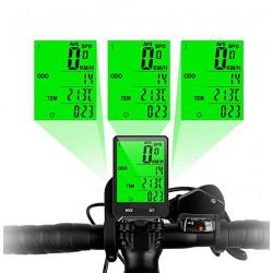 ProCart® Vezeték nélküli kerékpár sebességmérő, 15 funkció, LED kijelző, idő, kalóriafogyasztás figyelése