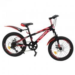Phoenix Mountain Bike, 20 hüvelykes kerekek, 7 sebességes, Shimano váltó, tárcsafékek, piros