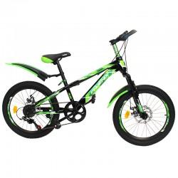 MTB kerékpár, Phoenix, 20 hüvelykes kerekek, 7 sebességes sebesség, Shimano váltó, alumínium kerekek, zöld