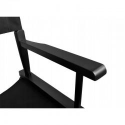 Beautylushh Smink szék, összecsukható, maximum 140 kg, lábtartó, vízálló, fekete