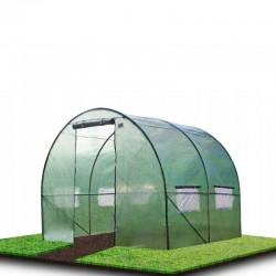 ProCart® Alagút típusú Melegház, 2x2x2 m, kerthez, PE fólia UV4 szűrővel, fém váz, ablakok