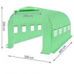MT Malatec Kerti napvédő fólia, 4x3x2m, UV szűrő, 8 ablak, 2 bejárat
