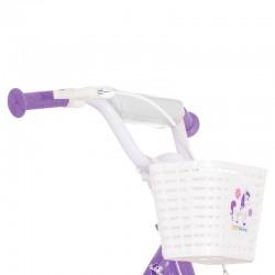 Visitor Fair Pony kerékpár, 12 hüvelykes , bevásárló kosár, baba biztonsági öv, lila