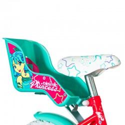 Visitor Princess Cosmic kerékpár, 12 hüvelykes, bevásárlókosár, segédkerekek, babaülés