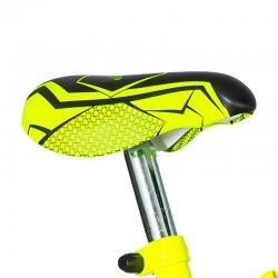 Visitor kerékpár, 16 hüvelykes, 2 segédkerék, V-Brake fék, neon sárga