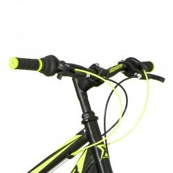 Explorer MTB kerékpár, 26 hüvelykes , 18 sebességes Shimano váltó, lengéscsillapítók, U-brake fékek, neonzöld