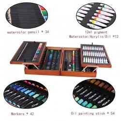 ProCart® Festő és rajzkészlet 174 darab, fadoboz, 4 rekesz