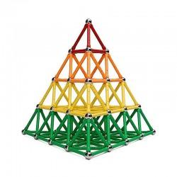 ProCart® 3D Mágneses Építőkészlet, 350 darab, többszínű, oktatási, interaktív, 6 éves kortól