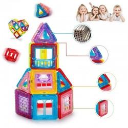 ProCart® Mágneses Építőkészlet, 106 darab, oktatási és kreatív játék, 3+ életkor