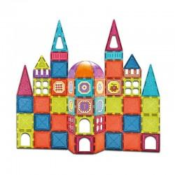 ProCart® Mágneses Építőkészlet, 77 darab, kreatív többszínű kastély, 3+ korosztály