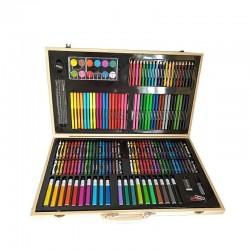 ProCart® Festő és rajzkészlet, 180 db, fatároló doboz