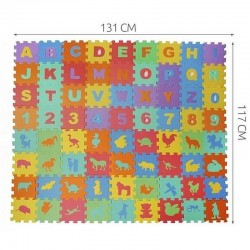 MT Malatec puzzle, hab szőnyeg, 72 elem, betű, szám és állat