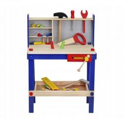 MT Malatec Műhely munkapaddal gyerekeknek, 30 fa szerszám, 33x46x64,5 cm