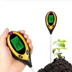 MT Malatec Digitális 4 az 1-ben talajvizsgáló, PH érték, savmérő, páratartalom mérés, beltéren és kültéren