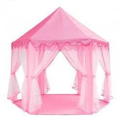 MT Malatec Gyermeksátor, Vár 135x140 cm, hatszögletű, 6 bejáratú, összecsukható, rózsaszínű